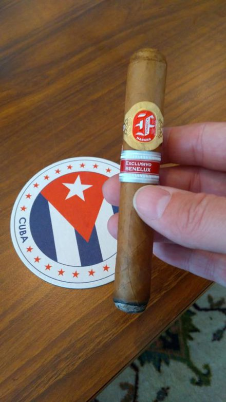 gifted cigar by Thomas.